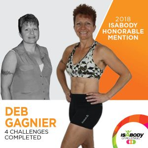 Deb after the Isagenix IsaBody competition