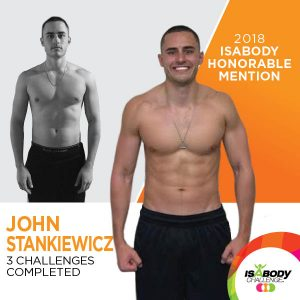 John after the Isagenix IsaBody competition