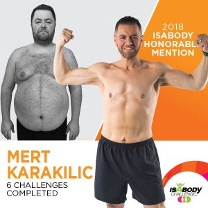Mert after the Isagenix IsaBody competition